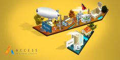 ACCESS City 3D on Behance