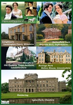 Filming Locations - Pride and Prejudice (TV Mini-Series, BBC, 1995) - I totally need to go to England. NOW!