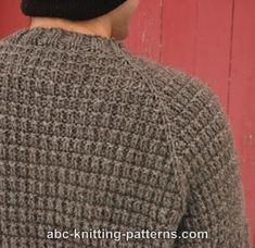 ABC Knitting Patterns - Men's Raglan Woodsman Sweater