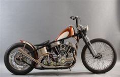 Awesome and Totally Cool Panhead Bike,Art and Perfection on two wheels! Harley Davidson Panhead, Harley Bobber, Bobber Chopper, Vintage Motorcycles, Custom Motorcycles, Custom Bikes, Old School Chopper, Bobber Motorcycle, Custom Harleys