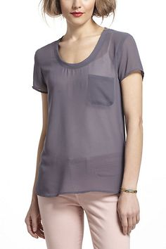 Pocketed Sheer Tee - Anthropologie.com
