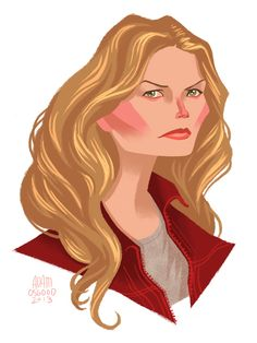 Emma Swan from Once Upon a Time See more OUAT portraits here:http://adamosgood.tumblr.com/tagged/Once-Upon-a-Time
