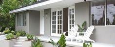 Fabulous Cool Tips: Coastal Chandelier Breakfast Nooks modern coastal exterior. Exterior Color Schemes, Exterior Paint Colors, Exterior House Colors, Paint Colors For Home, Interior Exterior, Grey Exterior, House Paint Exterior, Paint Colours, Interior Design