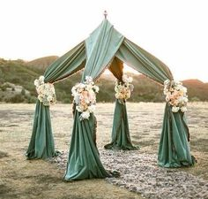 unusual outdoor chuppah -- The chuppah symbolises the home you and your partner will build together during your marriage