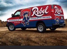 Fleet branding and logo design for this Vegas-based heating and air contractor.