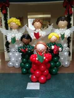 Angels and kids chorale, Christmas decor.