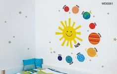 Happy Solar System Wall Decal for Kids Room or by TikitiWallDecals, $69.00