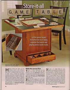Storage & Game/Puzzle Table