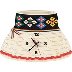 THE MARAMURES HAT Wooden clock with traditional motifs