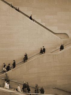 east atrium stairs, i m pei