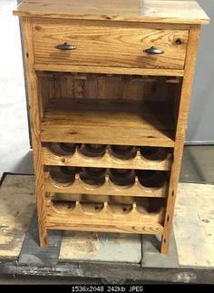 Mueble para vino con palets