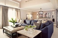 Tufted Leather Ottoman Coffee Table Design Ideas, Pictures, Remodel, and Decor - page 5