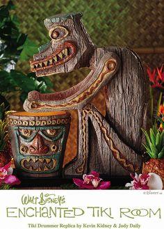Tiki Room Drummer Replica Disneyland Commemorative Replica Coordinated and designed by Kevin Kidney & Jody Daily Disney Theme, Disney Art, Walt Disney, Disney Crafts, Disney Stuff, Tiki Art, Tiki Tiki, Disney Enchanted, Tiki Bar Decor