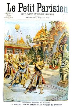 old maps and postcards - Page 3 Cambodian People, Cambodian Art, Old Pictures, Old Photos, Laos, Colonial Art, Khmer Empire, Mask Dance, Indochine
