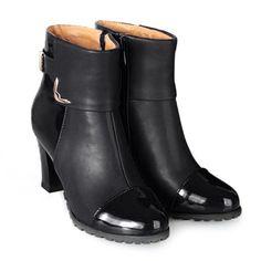 SHARE & Get it FREE   Elegant Patent Leather and Metallic Design Women's…