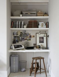 desk in a nook (via Paul Massey) - my ideal home...