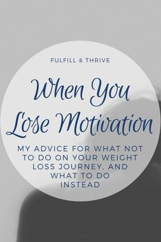 When you run out of weight loss motivation to keep going on your diet, it can feel pretty hopeless. Here are my tips for how to keep moving forward in your weight loss journey, and what not to do. Quick Weight Loss Tips, Weight Loss Help, Losing Weight Tips, Weight Loss Goals, Weight Loss Program, Weight Loss Journey, How To Lose Weight Fast, Reduce Weight, Weight Lifting