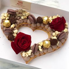 Full of love and chocolate♥️ on We Heart It Number Birthday Cakes, 25th Birthday Cakes, Number Cakes, Valentines Day Cakes, Valentine Desserts, Cake Cookies, Cupcake Cakes, Heart Shaped Cakes, Cake Decorating Videos