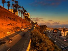 """Pacific Coast Highway or """"PCH"""" is a highway that passes through Santa Monica along the coast and below the bluffs of the city's famous Palisades Park. It is a popular route when traveling north towards Malibu Beach and Ventura and can be viewed from above several overpasses that lead pedestrians from Santa Monica to the beach and Pacific Ocea"""