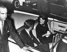 11/21/63 - President and Mrs. Kennedy's motorcade from the Rice Hotel to the Coliseum, prepares to leave.  They had just attended a LULAC reception at the Rice Hotel.