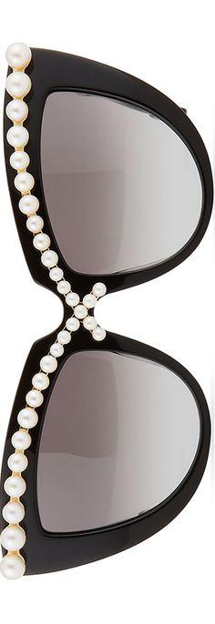 Anna-Karin Karlsson Pearl-Studded Cat-Eye Sunglasses