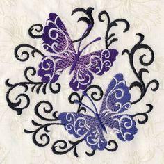 Butterfly Scroll - Ace Points   OregonPatchWorks