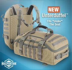 Check out our new bags & packs like the UNTERDUFFEL™ Adventure Bag, designed to meet new FAA carry-on regulations. #SHOTShow 2014 www.Maxpedition.com