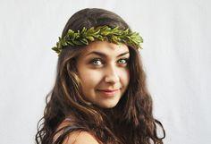 Leaf Crown Woodland Leaf Bridal Crown Greek by BloomDesignStudio