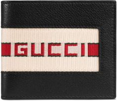 d675047694c Gucci stripe leather wallet Gucci Wallet