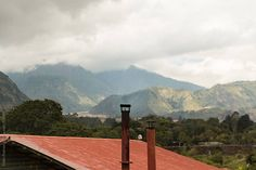Top of a house on a coffee farm in Panama by Eddie Pearson - Stocksy United Coffee Farm, Coffee Images, Panama, The Unit, Stock Photos, Mountains, Green, Nature, Top