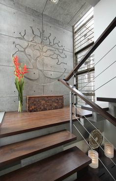 Stairs Handrail Design Architecture 31 Ideas For 2019 Interior Stairs, Railing Design, Staircase Design, Stair Walls, Room Door Decorations, Cladding Design, Interior Staircase, Wall Design, Concrete Stairs