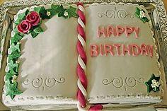 Buchtorte aus Eierlikörteig Communion, Happy Birthday, Sweet Dreams, Cake Decorating, Cakes, Birthday, Book Cakes, Cooking