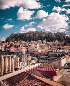 Athens, what a view! Places To Travel, Places To Visit, Greece Travel, Travel Europe, Enjoying The Sun, Athens Greece, Greek Islands, Wonders Of The World, Travel Photos