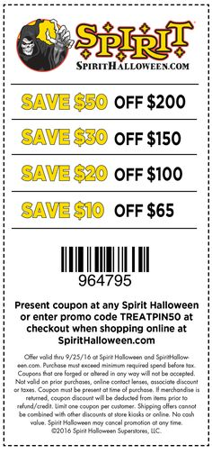 these savings are so good its scary - Spirit Halloween 50 Off Coupon