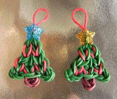 Two Christmas Tree Rubber Band Charms For by InterferenceChannel, $2.50