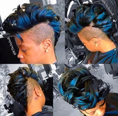 Wicked faux-hawk ❤️ Shaved Hair Designs, Beautiful Hair Color, Mohawk Hairstyles, Hair Quality, Hair Shows, Creative Hairstyles, Short Hair Cuts, Faux Hawk, Hair Inspiration