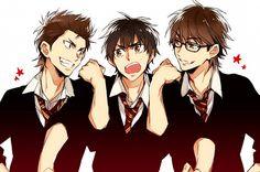 Ace of Diamond ~ Kuramochi Youichi, Eijun Sawamura, and Miyuki Kazuya