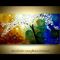 abstract floral painting by Nicolette Vaughan Horner
