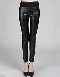 incern®women seks bodycon elastik deri pantolon