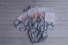 Handmade baby girl gown with accessories; Take Home Outfit; Handmade Baby, Handmade Gifts, Gowns For Girls, Baby Gown, My Etsy Shop, Sewing, Trending Outfits, Accessories, Shopping