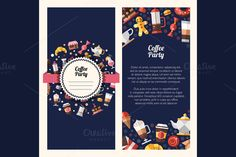 Coffee Party Flyer Illustration by Decorwith.me Shop on Creative Market