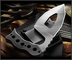 Designed by a former US Marine, the Manticuda was created with versatility in mind; it features a multi-faceted, double-edged blade, multi-hold handle and heavy-duty Kydex sheath. Definitely a knife with self protection in mind.
