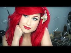 Disney's Little Mermaid - ARIEL MAKEUP TUTORIAL - Traci Hines - YouTube