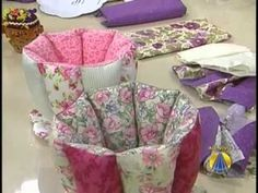 fabric cup n saucer organizer... please watch it in full screen