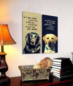 Would love to do this for our dogs..... canvas dog art