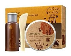 Innisfree Jeju Volcanic Pore Mask limited Set by Innisfree. $39.99. ?Formulated with Jeju Volcanic Cluster  : Soaks up excess oil and treats enlarged pores.  : Provides pore clearing and trouble caring effects simultaneously