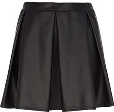 #River Island             #Skirt                    #black #pleat #coated #skater #skirt                black pleat coated skater skirt                                               http://www.seapai.com/product.aspx?PID=226593