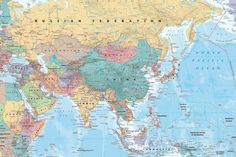 Middle East and Asia map Posters at AllPosters.com