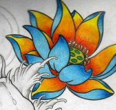 44 Best Ideas for tattoo flower lotus japan Time Tattoos, Body Art Tattoos, Sleeve Tattoos, Lotus Tattoo Design, Flower Tattoo Designs, Flor Oriental Tattoo, Smal Tattoo, Sailor Jerry Tattoo Flash, Clover Tattoos