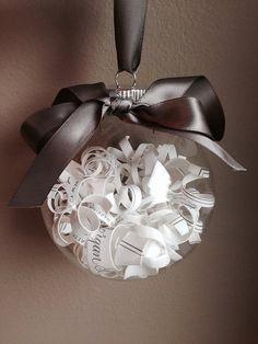 Wedding Invitation Ornament // Silver Wedding // Wedding Invitation // Great Christmas Gift!